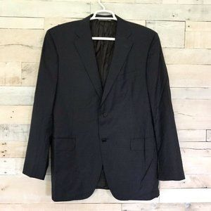 Canali Two Button Navy Blue Wool Suit Coat 46